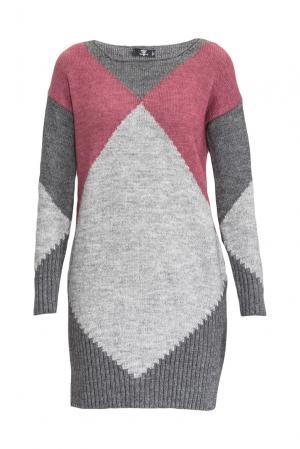 Трикотажное платье 153110 Sos Chic. Цвет: разноцветный