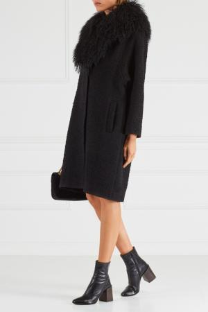 Шерстяное пальто Chapurin. Цвет: черный