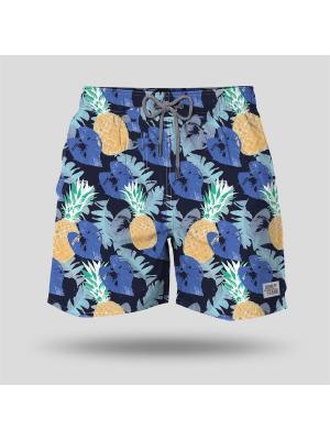 Шорты пляжные мужские JOHN FRANK. Цвет: темно-синий