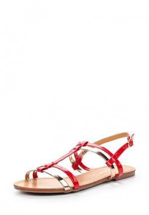 Сандалии Style Shoes. Цвет: красный