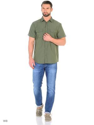 Рубашка Modis. Цвет: зеленый, хаки