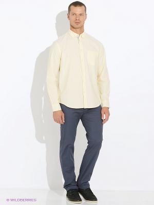 Рубашка INCITY. Цвет: кремовый