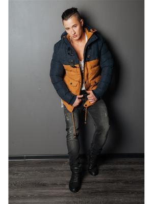 Куртка COREY FILDMAN. Цвет: темно-синий, рыжий
