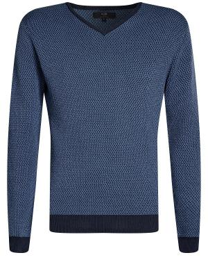 Пуловер Oodji. Цвет: темно-синий, голубой