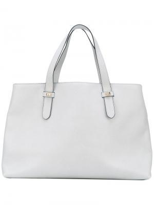 Классическая сумка-тоут Borbonese. Цвет: серый