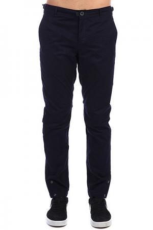 Штаны прямые  Btns Pants Темно-синий Skills. Цвет: синий