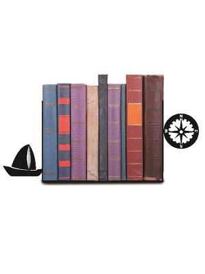 Декоративная подставка-ограничитель для книг Навигация Magic Home. Цвет: черный