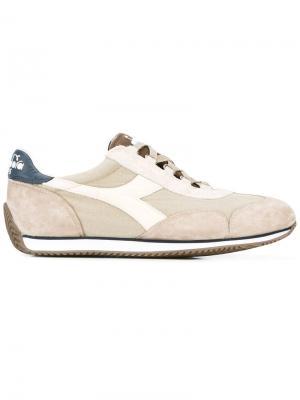 Кроссовки со шнуровкой Diadora. Цвет: серый