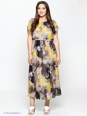 Платье Amelia Lux. Цвет: коричневый, розовый
