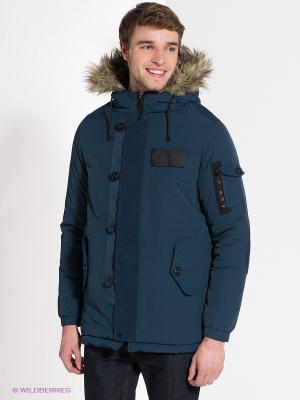 Куртка Bellfield. Цвет: синий