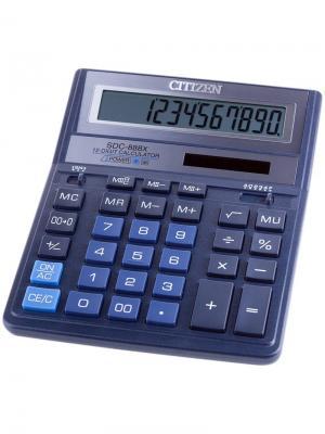Калькулятор карманный LC-210N 8 разрядов, питание от батарейки, 62*98*11 мм, черный CITIZEN. Цвет: черный