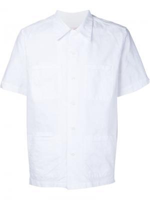 Рубашка с короткими рукавами Battenwear. Цвет: белый
