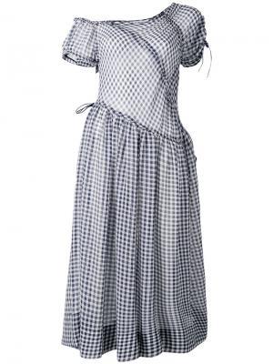 Платье Oakenfold Molly Goddard. Цвет: синий