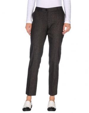 Повседневные брюки FABRIZIO LENZI. Цвет: стальной серый