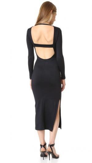 Миди-платье с низким вырезом на спине David Lerner. Цвет: классический черный