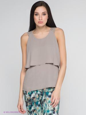 Блузка Vero moda. Цвет: бежевый