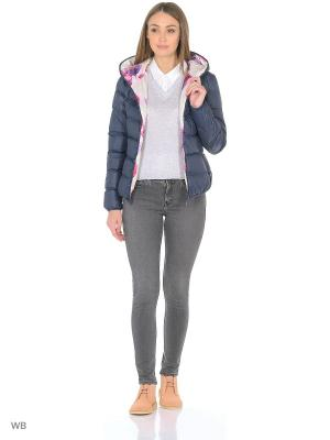 Куртка RISSKIO. Цвет: темно-синий, розовый