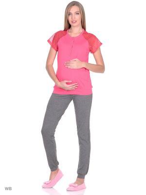 Комплект для беременных и кормящих ФЭСТ. Цвет: коралловый, темно-серый