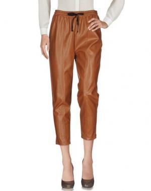 Повседневные брюки VICOLO. Цвет: коричневый