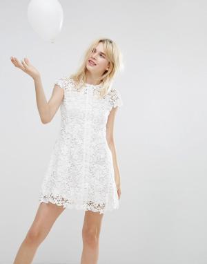 Paul & Joe Кружевное платье Sister. Цвет: белый