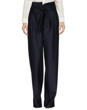 Повседневные брюки MIAHATAMI. Цвет: темно-синий