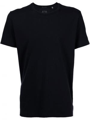 Классическая футболка с круглым вырезом Atm Anthony Thomas Melillo. Цвет: чёрный