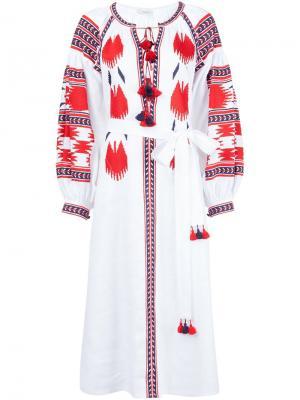 Платье макси с вышивкой Vita Kin. Цвет: белый