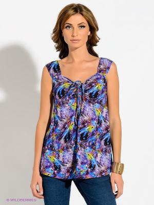 Блузка T&M. Цвет: фиолетовый, синий, зеленый