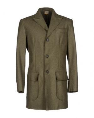 Пальто D'AMICO. Цвет: зеленый