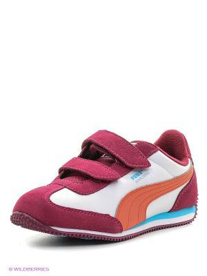 Кроссовки Whirlwind L V PS Puma. Цвет: бордовый, белый