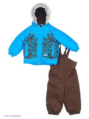 Комплект одежды Kerry. Цвет: голубой, темно-коричневый