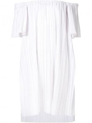 Блузка с открытыми плечами Adam Lippes. Цвет: белый
