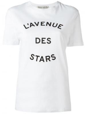 Футболка LAvenue Des Stars Être Cécile. Цвет: белый