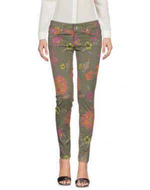 Повседневные брюки XTSY. Цвет: зеленый-милитари