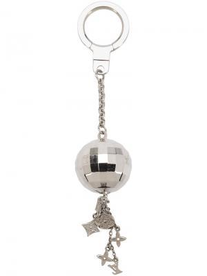 Брелок для ключей с подвеской Orb Louis Vuitton Vintage. Цвет: серый