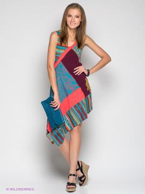 Платье Coline. Цвет: светло-коралловый, оранжевый, желтый, бирюзовый, темно-бордовый