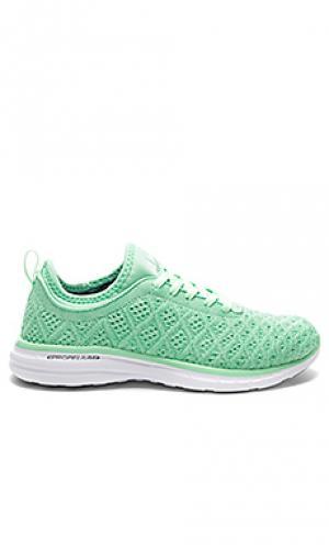 Кроссовки для бега techloom Athletic Propulsion Labs: APL. Цвет: зеленый