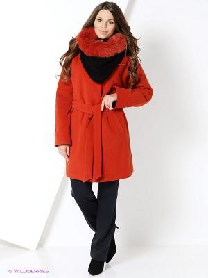 Пальто Electrastyle. Цвет: терракотовый
