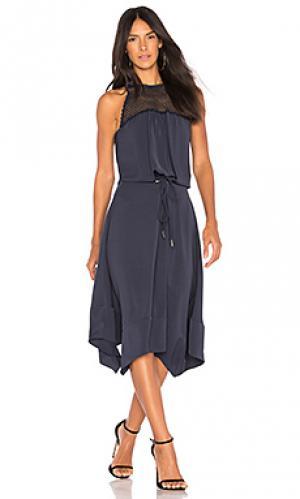 Платье миди lylah RAMY BROOK. Цвет: синий