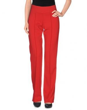 Повседневные брюки INTROPIA. Цвет: красный
