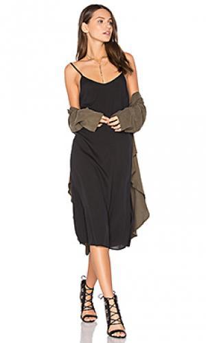 Шелковое платье-комбинация Assembly Label. Цвет: черный
