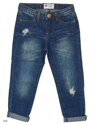 Брюки (джинс) Button Blue. Цвет: синий