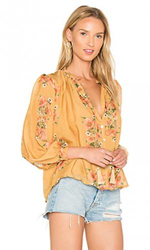 Блузка katie Carolina K. Цвет: желтый