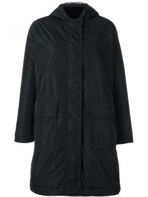 Пальто с капюшоном Aspesi. Цвет: чёрный