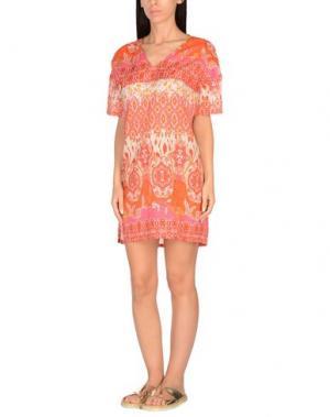 Пляжное платье CHILI PEPPERS. Цвет: коралловый