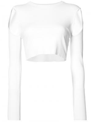 Укороченная блуза с вырезным дизайном Opening Ceremony. Цвет: белый