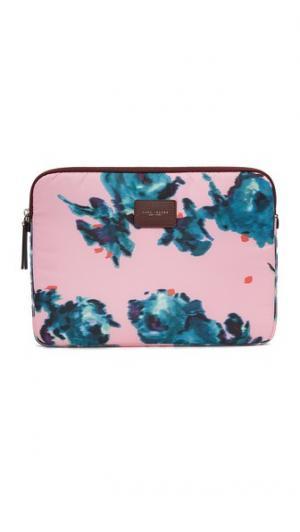 Чехол для ноутбука диагональю 16 дюймов из парчи с цветочным рисунком Marc Jacobs. Цвет: розовый мульти и никель