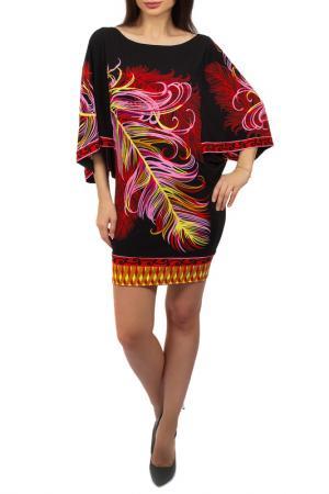 Платье Hale Bob. Цвет: черно-красный