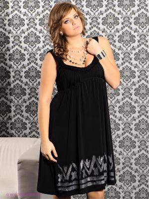 Платье MAT fashion. Цвет: темно-серый, черный
