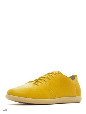 Кеды GEOX. Цвет: желтый